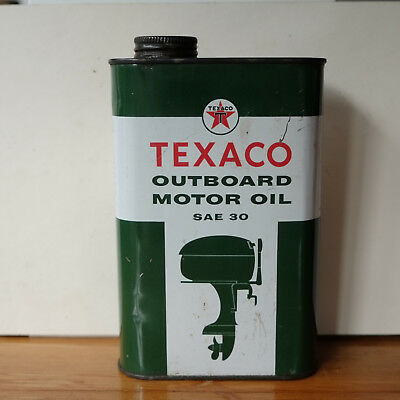 Vintage Texaco Outboard Motor Oil Can , apears to be unopened
