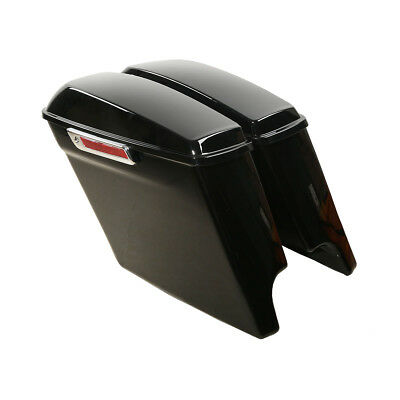 """5"""" Stretched Extended Saddlebags W/ Latch Key For Harley Touring 2014-2018 2016"""