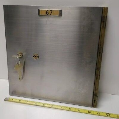 Commercial 10x10 3/4 Safe Deposit Box Wall Door Unit w/ Precision Lock and Keys