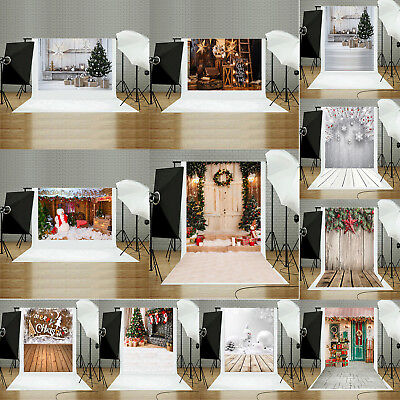 XMAS Christmas Tree Ball Sock Photography Vinyl Photo Background Studio Backdrop