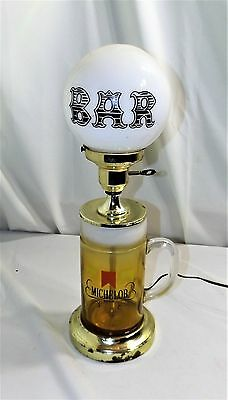 "Rare Michelob Beer Mug Bar Light, Real Glass Mug and Globe, 18"" tall X 6"" dia."
