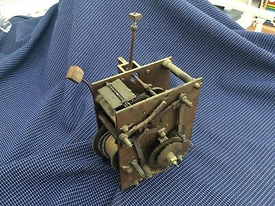 Vintage grandfather grand father longcase clock movement