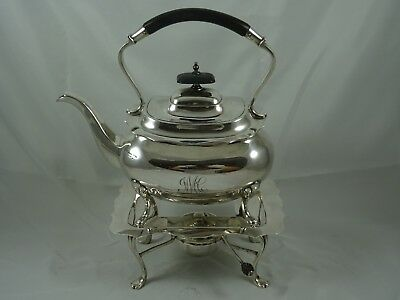 QUALITY, solid silver KETTLE ON STAND, 1913, 1343gm - Walker & Hall
