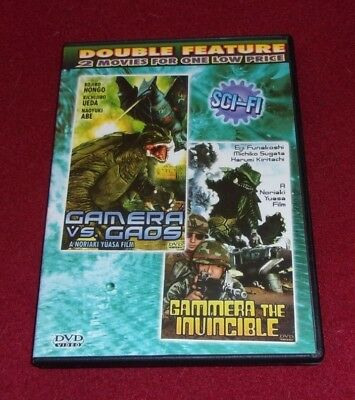 Gamera vs Gaos/Gamera the Invincible RARE double feature DVD Eastwest video