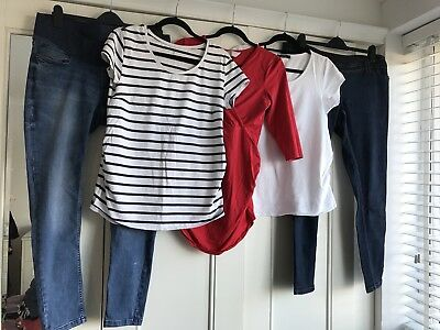Maternity Jeans And Tshirts Bundle 14-16