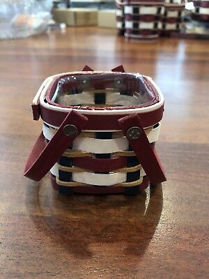 Longaberger Everyday USA Itty Bitty Basket Set LAST in Series NEW In Hand
