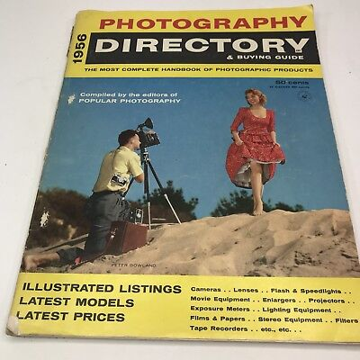 Vintage Cameras Catalog 1956 Photography Directory & Buying Guide Pinup