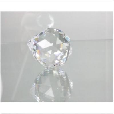 Hot sell 1pc30 mm Gazing Ball Crystal Sphere Clear glass Cut Home Decor Faceted