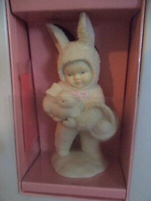 "Snowbunnies    I'LL LOVE YOU FOREVER"" - HOLDING A BUNNY & BASKET DEPT 56"