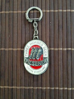 Ancien Porte Cle Three Horses Beer Biere Madagascar