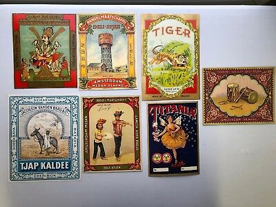 7 Antique Fabric Labels From India One Is Creapy Looking