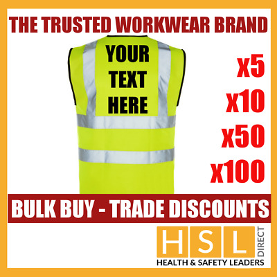 Bulk Buy Hi Vis Vest Personalised Custom Printed Viz Vis Safety Vest Waistcoat