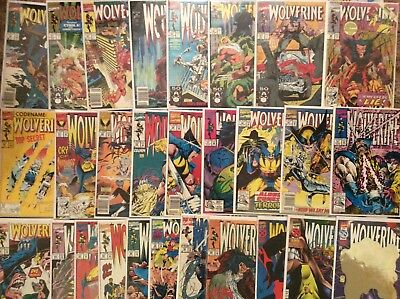 Wolverine comic Lot Of 28 includes #80  very nice condition. 2nd Series 1988
