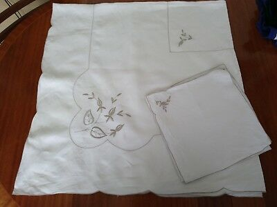 Collection of 7 Vintage Hand Made & Embroidered Tablecloths