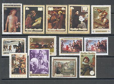 "Rwanda - Lot of Stamps MNH** ""Famous Paintings"""