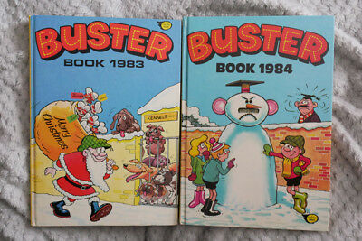 Buster Book Annual two - 1983 and 1984 - good condition as photo and description