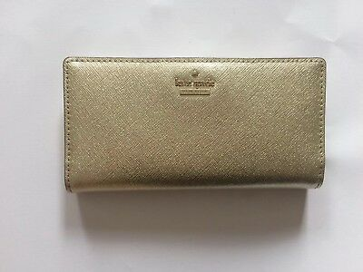 Authentic Nwt Kate Spade Stacy Wallet Rose Gold pwru5072