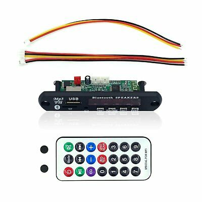 Fiekcor, scheda di decodifica per auto Bluetooth, MP3, WMA, 12 V, (E7j)