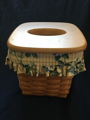 Longenberger basket With Wooden Tissue Box Lid