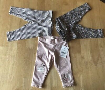 3 PAIRS LEGGINS by NEXT - Size 3-6 Months - NEW