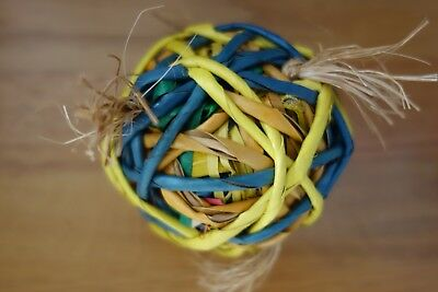 Hari Ball Extra Large Natural Foot Toy Parrot/ Conure/ Bird Toy - New