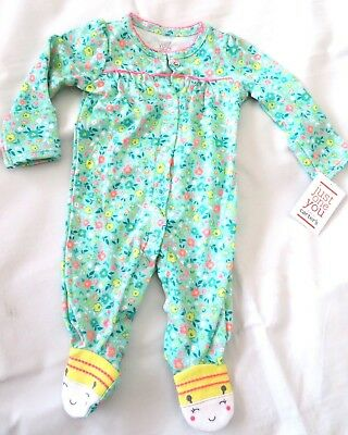 Newborn baby Girl's Just One You Carter's One Piece Snap Suit Outfit NEW Size NB