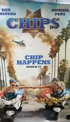 Chips - original DS movie poster - 48x70 D/S Adv Dax Shepard , Michael Pena