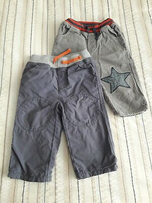Boden trouser bundle grey & star patch cords 12-18 months