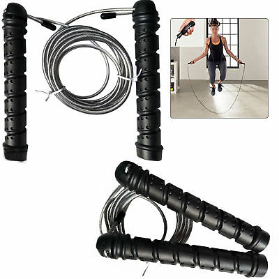Pro Weighted Speed Cable Skipping Jumping Rope Boxing Mma Fitness Gym Jump