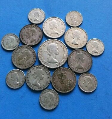 Canadian Silver Coin Lot(18024)