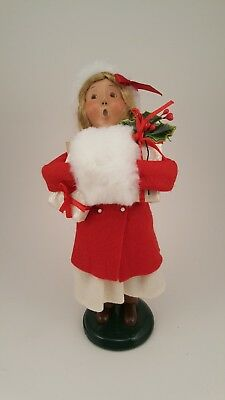 Byers Choice 2005 female child Christmas Shopper holding gifts