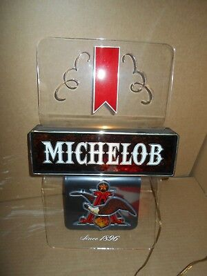 "VINTAGE  MICHELOB  - LIGHTED  SIGN ,TAVERN , BAR, WALL SIGN 11 3/4"" x 18"" Works"