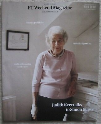 Judith Kerr - FT Weekend Magazine – 14 October 2017