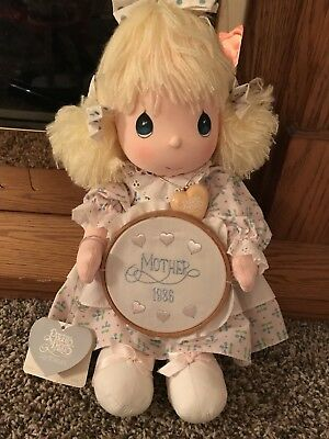 """Precious Moments Last Forever Plush Doll Katie 14"""" Doll With Heart Necklace - re"""
