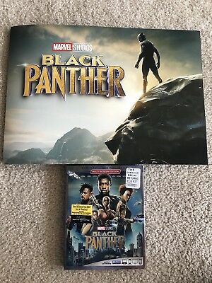 Disneys Marvel BLACK PANTHER! BLU RAY & DVD (No Digital) W/ LE LITHOGRAPHS! EUC