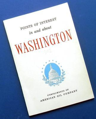 1952 WASHINGTON D.C. tour guide book by AMOCO American Oil Co Points of Interest
