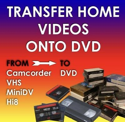 Transfer Your Home Videos From VHS, VHS C, MiniDv And Hi8 Tapes To DVD