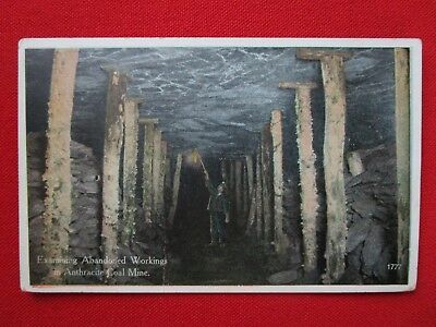 SCRANTON, PA Anthracite Coal Mine #1777 Inspector Vintage Postcard Times Printer