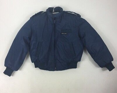 VTG 80s Members Only By Fabil Blue Puffy Jacket Toddler Boy Size 7