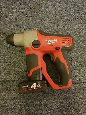 Milwaukee 12v Lithium M12H SDS Hammer Drill with 4Ah Li-Ion battery