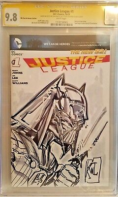 Justice League #1 (2011) Vader Batman Sketch Cover Art / CGC 9.8 / Ken Lashley