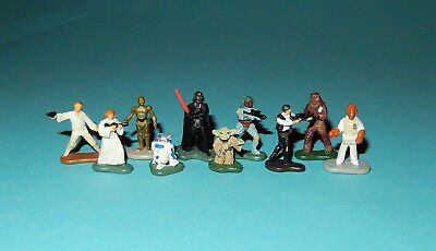 STAR WARS Micro Machines - 10 CLASSIC CHARACTERS figures lot - Yoda R2D2 HanSolo
