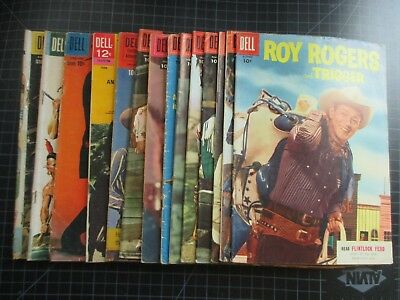 Mixed Lot Of Dell Westerns Roy Rogers Wyatt Earp Some Beautiful Copies