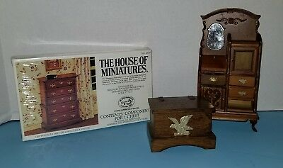 "3 Pc Lot of 1"" Scale Dollhouse Furniture"