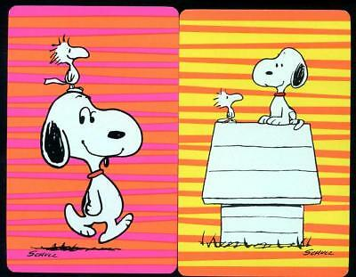 Snoopy Swap Cards X2 Matching Pair Mint Condition