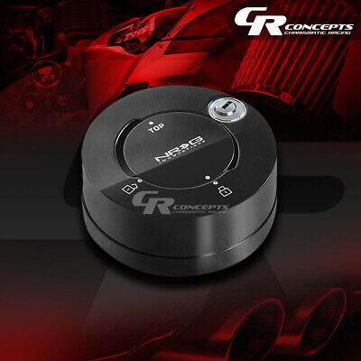 Nrg Universal Steering Wheel Quick Release Adaptor Anti-Theft Lock Black