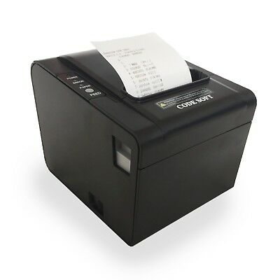 Thermal Receipt Ticket Printer with LAN Ethernet, USB, Serial - Heavy Duty 80mm