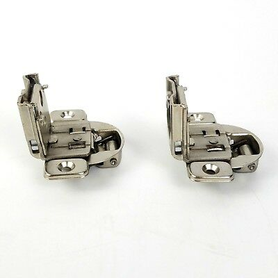 """Cabinet Door Self Closing Hinge 1 1/2"""" Partial Overlay Lot of 2 Concealed Pair"""
