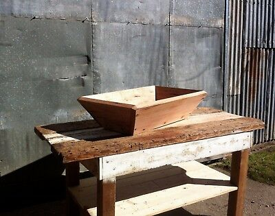 Wooden Timber Trough Wash Laundry Bakers Dough