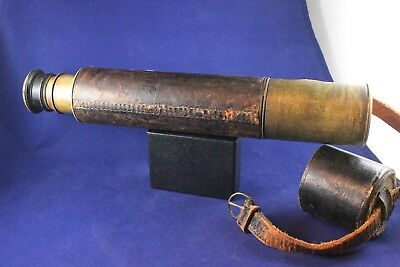 Antique 3-Drawer Nautical Telescope  JH.Steward 406 & 457 Strand London Brass